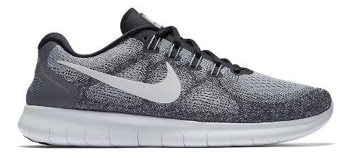 Mens Nike Free RN 2017 Running Shoe - Grey/Black 12