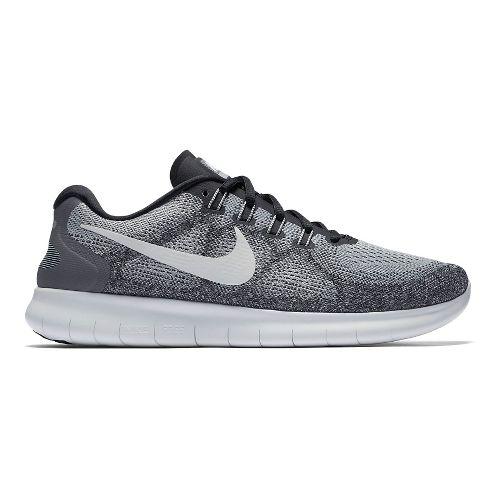 Mens Nike Free RN 2017 Running Shoe - Grey/Black 13