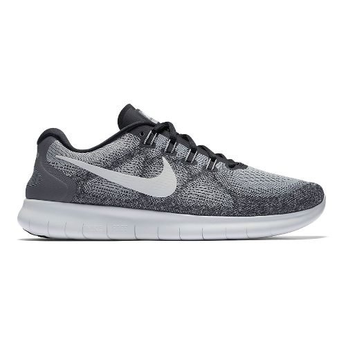 Mens Nike Free RN 2017 Running Shoe - Grey/Black 9