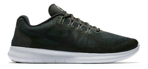 Mens Nike Free RN 2017 Running Shoe - Olive 9