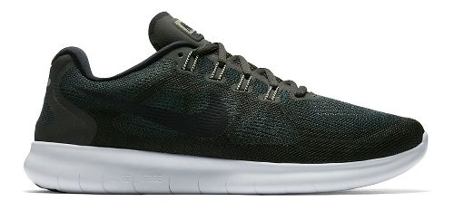Mens Nike Free RN 2017 Running Shoe - Olive 9.5