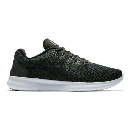 Mens Nike Free RN 2017 Running Shoe - Olive 14