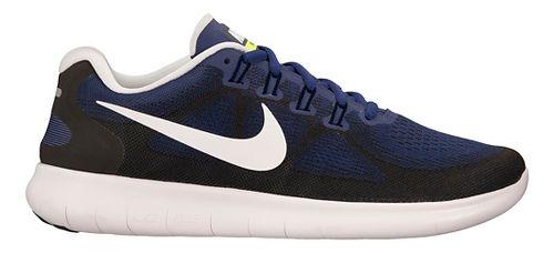 Mens Nike Free RN 2017 Running Shoe - Blue/Black 12