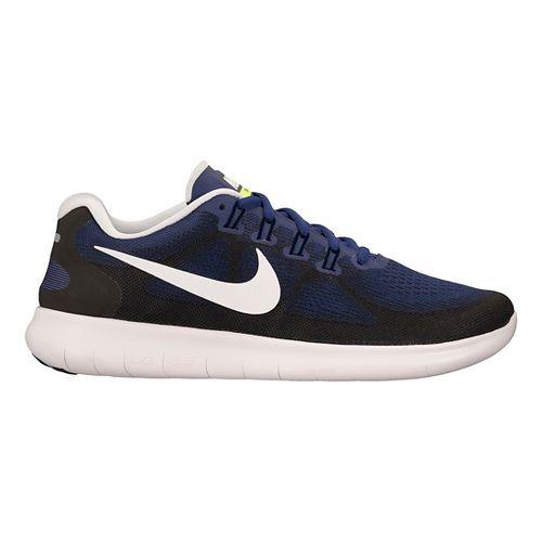 Mens Nike Free RN 2017 Running Shoe - Blue/Black 10