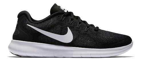 Womens Nike Free RN 2017 Running Shoe - Black 7