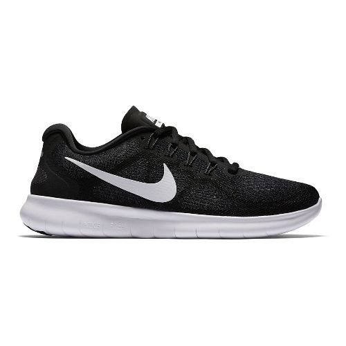 Womens Nike Free RN 2017 Running Shoe - Black 10.5
