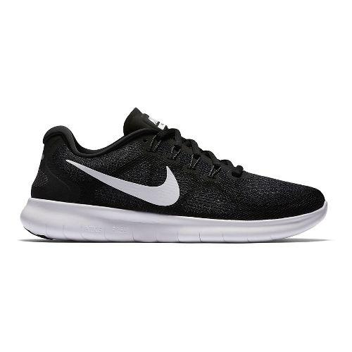 Womens Nike Free RN 2017 Running Shoe - Black 6