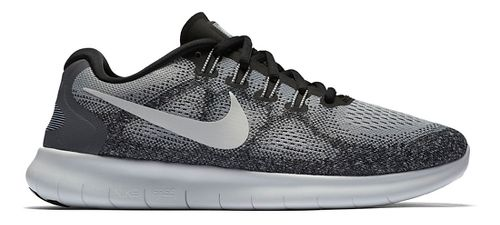 Womens Nike Free RN 2017 Running Shoe - Grey/Black 7