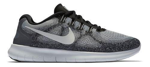Womens Nike Free RN 2017 Running Shoe - Grey/Black 9
