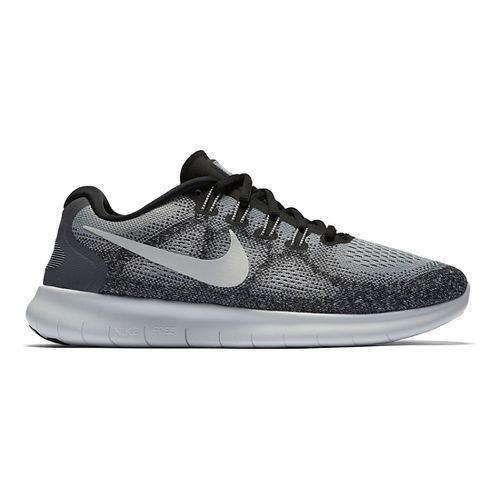 Womens Nike Free RN 2017 Running Shoe - Grey/Black 8