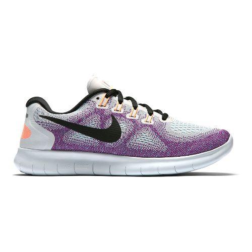 Womens Nike Free RN 2017 Running Shoe - White/Multi 8.5