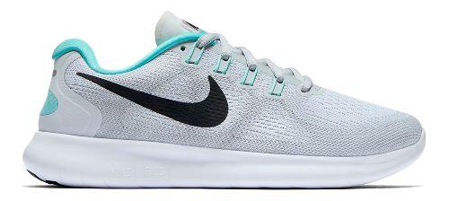 Womens Nike Free RN 2017 Running Shoe - Platinum/Teal 10