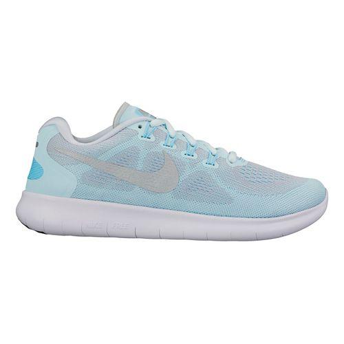 Womens Nike Free RN 2017 Running Shoe - Glacier 9