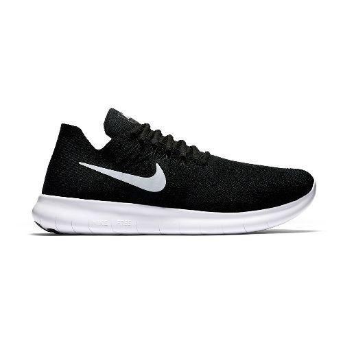 Mens Nike Free RN Flyknit 2017 Running Shoe - Black 11.5
