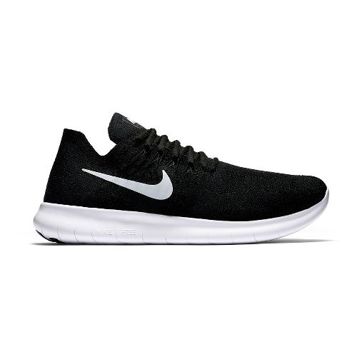 Mens Nike Free RN Flyknit 2017 Running Shoe - Black 14