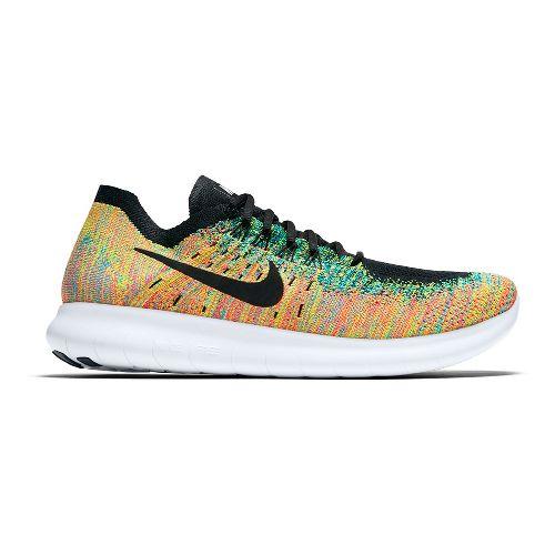 Mens Nike Free RN Flyknit 2017 Running Shoe - Multi 10.5