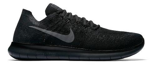 Mens Nike Free RN Flyknit 2017 Running Shoe - Black/Black 14
