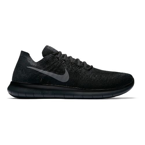 Men's Nike Free RN Flyknit - Black/Black 8.5