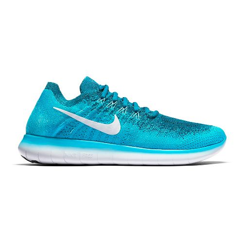 Mens Nike Free RN Flyknit 2017 Running Shoe - Blue 10