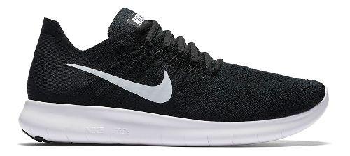 Womens Nike Free RN Flyknit 2017 Running Shoe - Oreo 8.5