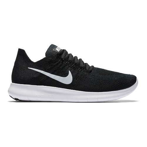 Womens Nike Free RN Flyknit 2017 Running Shoe - Black 10.5