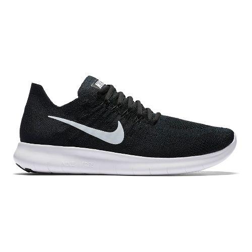 Womens Nike Free RN Flyknit 2017 Running Shoe - Black 8.5