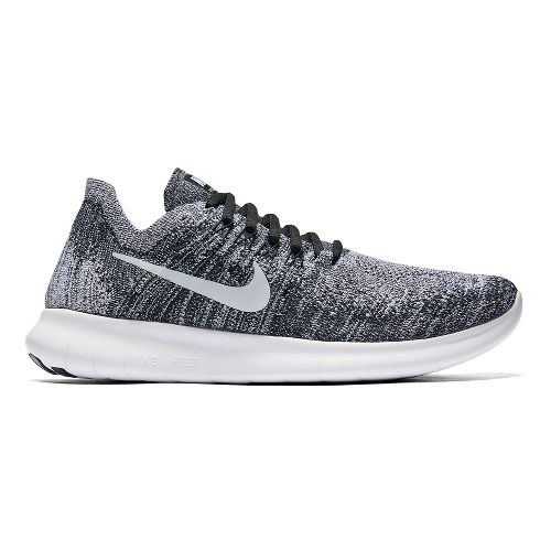 Womens Nike Free RN Flyknit 2017 Running Shoe - White/Black 8.5