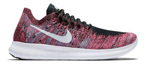 Womens Nike Free RN Flyknit 2017 Running Shoe - Multi 8.5