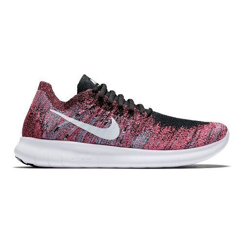 Womens Nike Free RN Flyknit 2017 Running Shoe - Multi 6.5