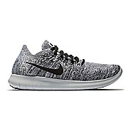 Womens Nike Free RN Flyknit 2017 Running Shoe - Oreo 10
