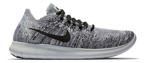 Womens Nike Free RN Flyknit 2017 Running Shoe - Oreo 8