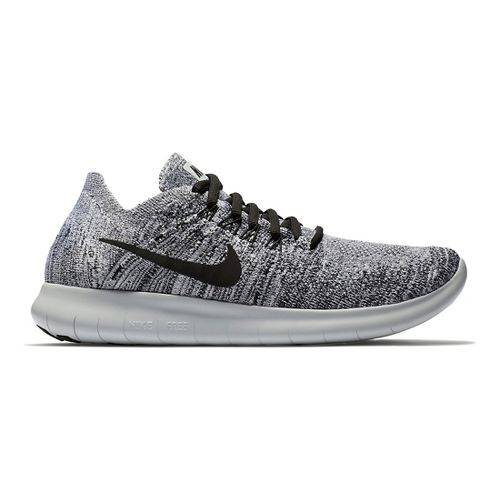 Womens Nike Free RN Flyknit 2017 Running Shoe - Oreo 9.5