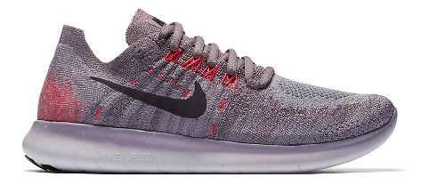 Womens Nike Free RN Flyknit 2017 Running Shoe - Grey 9