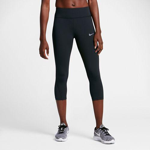 Womens Nike Power Epic Lux Mesh Capri Tights - Black M