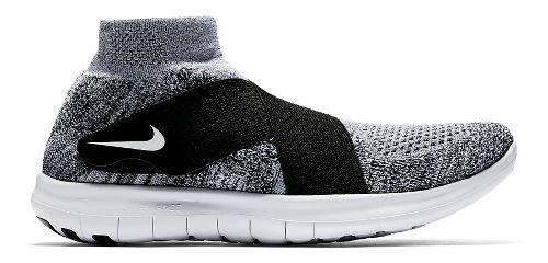Mens Nike Free RN Motion Flyknit 2017 Running Shoe - White/Black 10.5