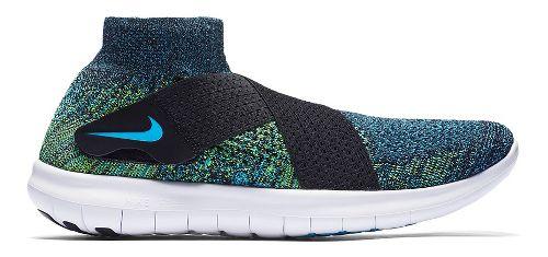 Mens Nike Free RN Motion Flyknit 2017 Running Shoe - Black/Multi 12.5