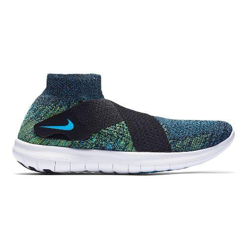 Mens Nike Free RN Motion Flyknit 2017 Running Shoe - Black/Multi 14
