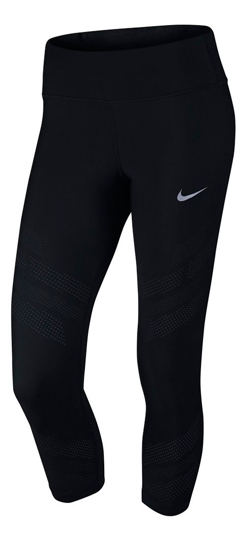 Womens Nike Epic Cool Crop Capris Tights - Black L