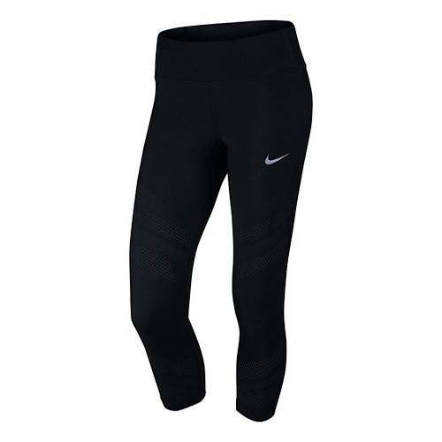 Womens Nike Epic Cool Crop Capris Tights - Black XS
