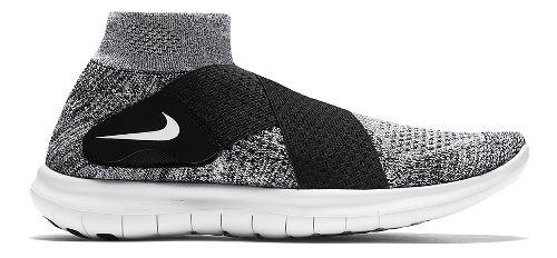 Womens Nike Free RN Motion Flyknit 2017 Running Shoe - White/Black 9.5