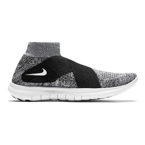 Womens Nike Free RN Motion Flyknit 2017 Running Shoe - White/Black 8.5