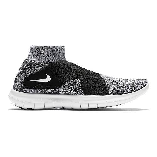 Womens Nike Free RN Motion Flyknit 2017 Running Shoe - White/Black 9