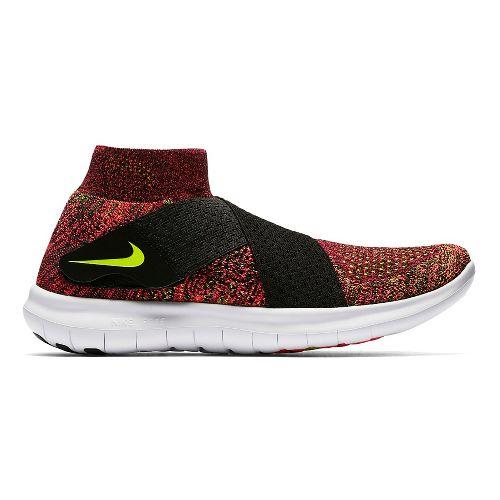 Womens Nike Free RN Motion Flyknit 2017 Running Shoe - Black/Multi 7