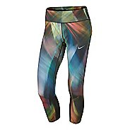 Womens Nike Power Epic Run Printed Crop Capris Tights