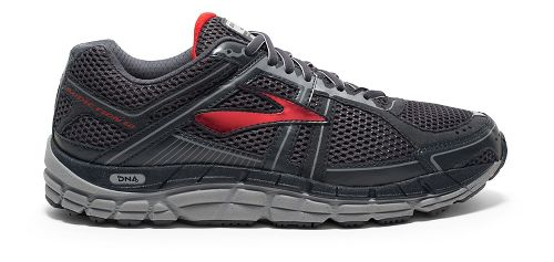 Mens Brooks Addiction 12 Running Shoe - Anthracite/Red 9.5