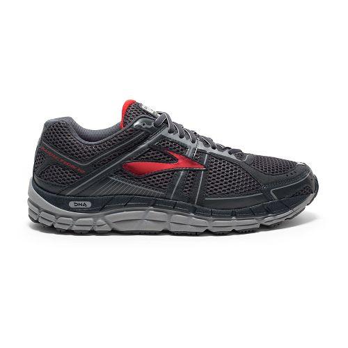 Mens Brooks Addiction 12 Running Shoe - Anthracite/Red 16