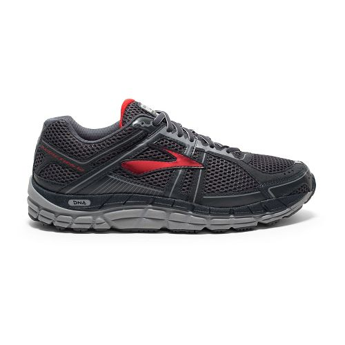 Mens Brooks Addiction 12 Running Shoe - Anthracite/Red 7.5