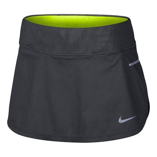 Womens Nike Flex Trail Skorts Fitness Skirts - Anthracite/Black M