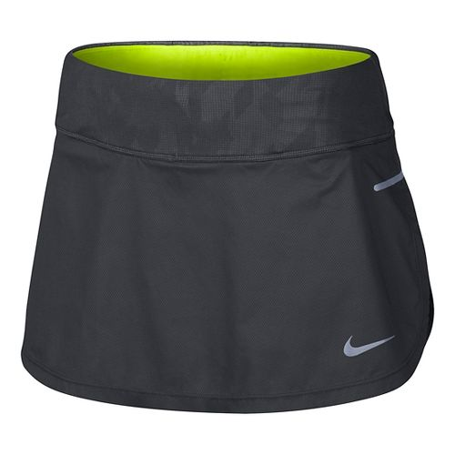 Womens Nike Flex Trail Skorts Fitness Skirts - Anthracite/Black S