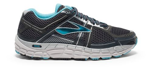 Womens Brooks Addiction 12 Running Shoe - Anthracite/Blue 5